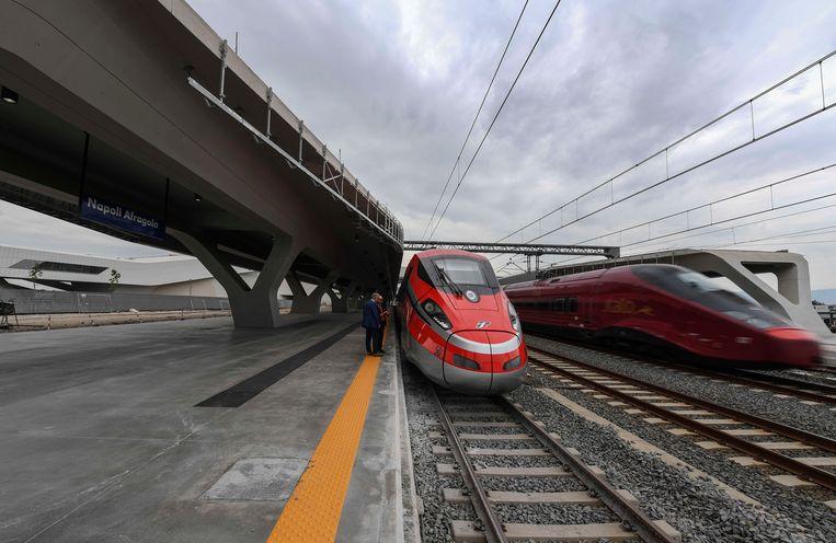 De hogesnelheidstrein van Italië.  Beeld Getty Images