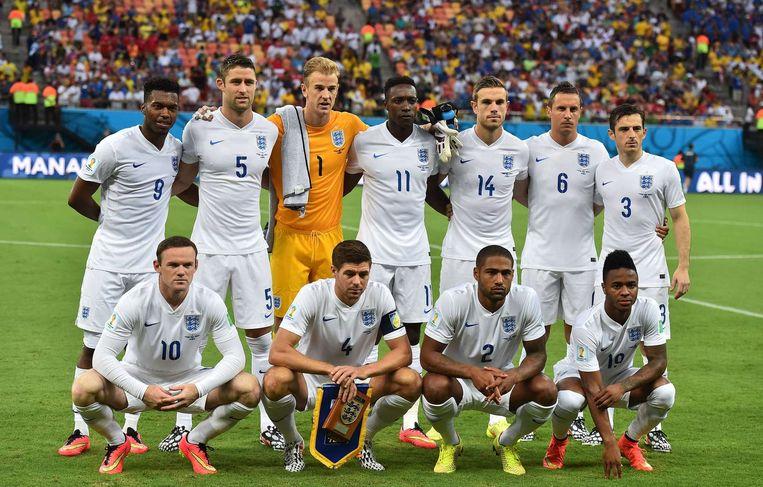 De selectie van Engeland, voorafgaand aan het duel met Italië Beeld AFP