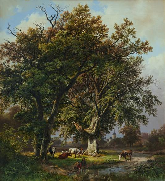 'De grote beuk voor Kasteel Moyland' (1840).