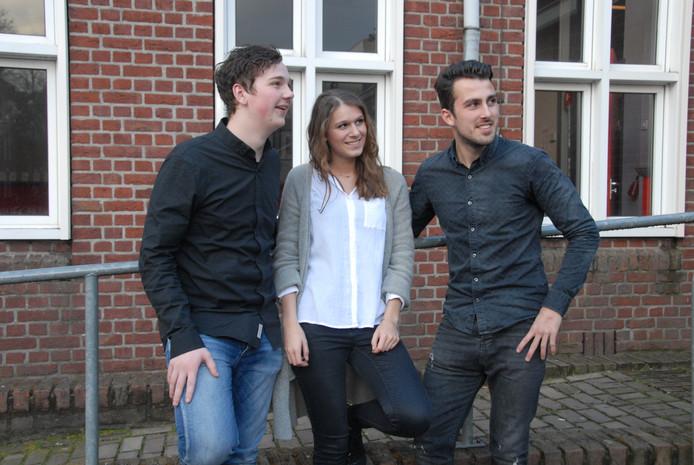 Organisatoren Wouter Grandia, Britt Verhagen en Robin van de Ven.