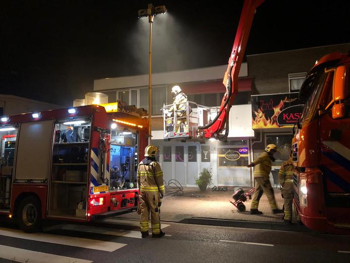 Brand in een bovenwoning aan de Molenstraat in Ede.
