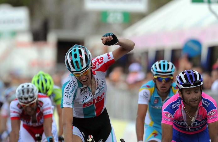 Bart de Clercq wint een rit in de Giro van 2011.