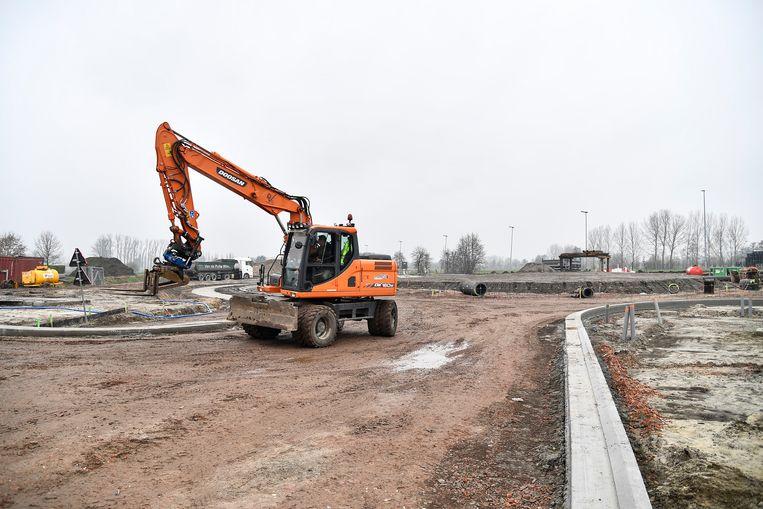 Door de start van fase twee van de werken is het kruispunt van de Hamsesteenweg met de Zogsebaan volledig nu afgesloten.