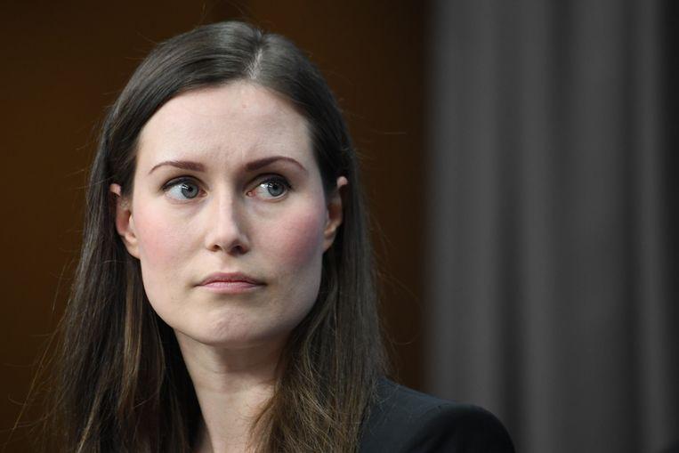 De Finse Premier Sanna Marin. Beeld AFP
