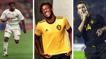 FOTOREEKS: de nieuwe uitshirts van onze Duivels zijn dus geel, maar hoe zag het tweede plunje van de nationale ploeg er door de jaren heen uit?