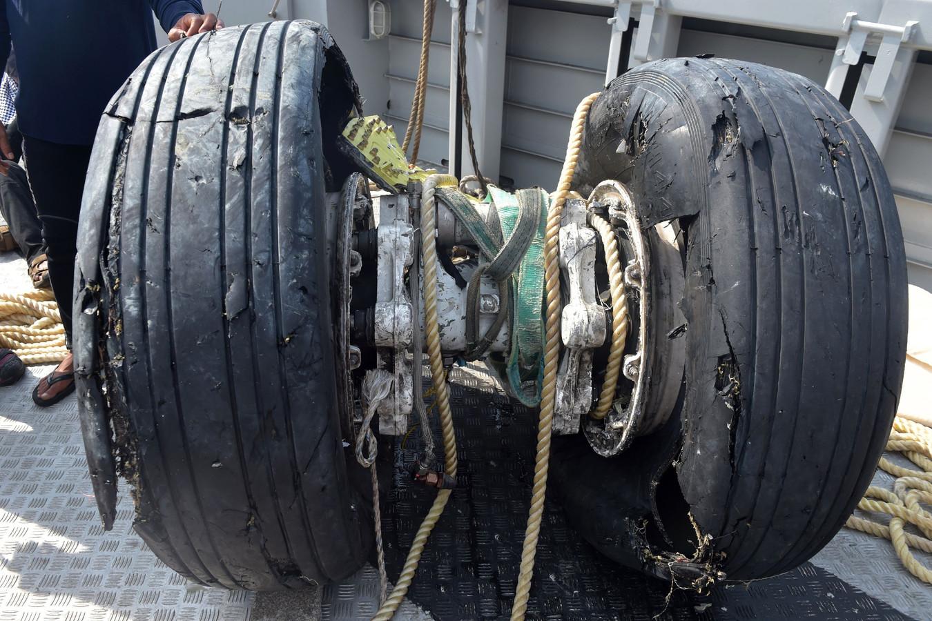 Een deel van het landingsgestel van de neergestorte Boeing