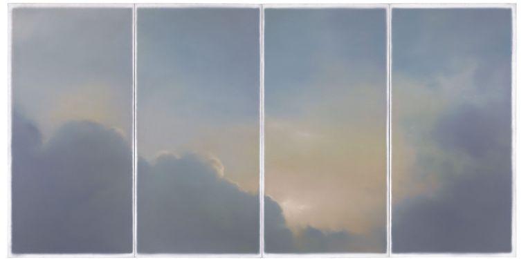 Het schilderij 'Wolken' van Gerhard Richter. Beeld epa