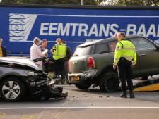Vier auto's botsen op A1 bij Barneveld