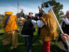Vikingen, valken en vlees op historisch festival