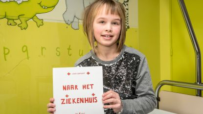 Lexie (10) schrijft boekje over ziekenhuisopname