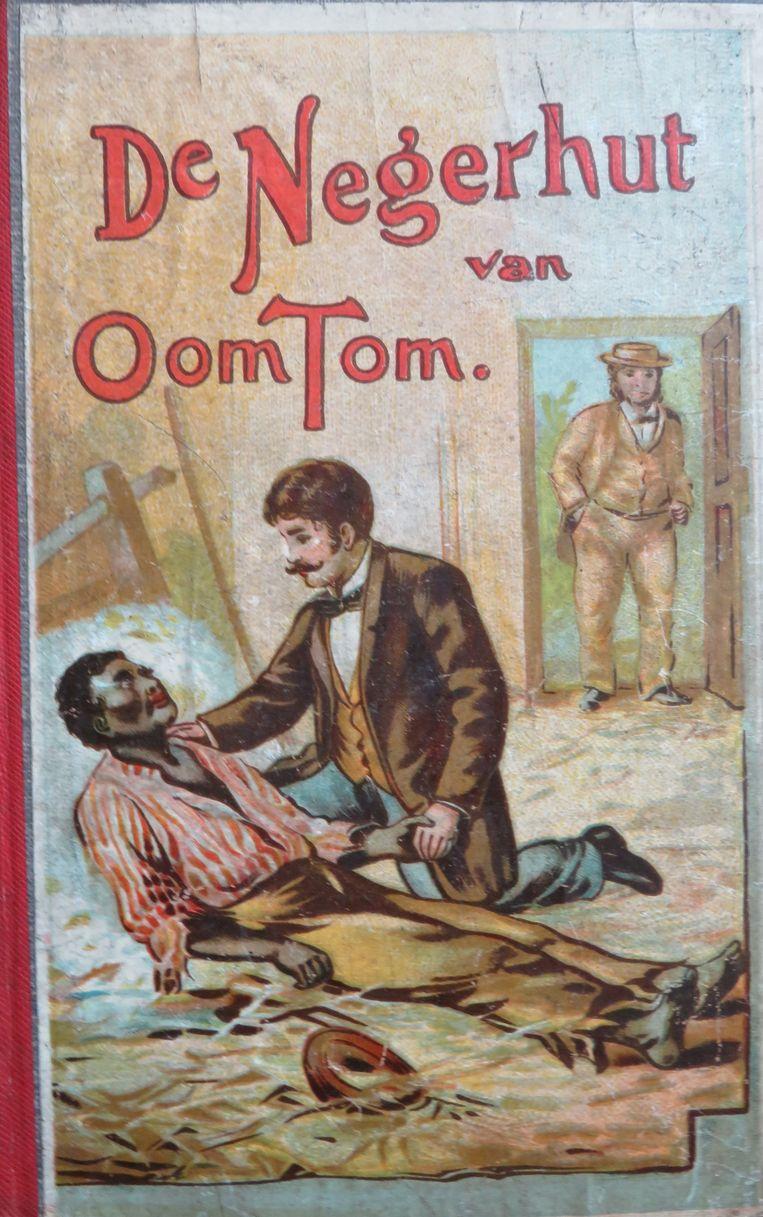 'De negerhut van oom Tom' stelt slavernij aan de kaak en komt op voor de rechten van zwarte mensen, maar zit tegelijk vol met racistische stereotypen. Beeld Museum Meermanno