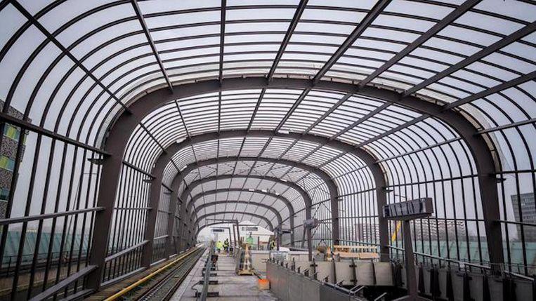 Station Noord in aanbouw Beeld Rink Hof