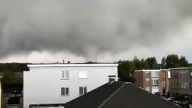 Nieuwe, indrukwekkende beelden tonen hoe minitornado over noorden Antwerpen raast