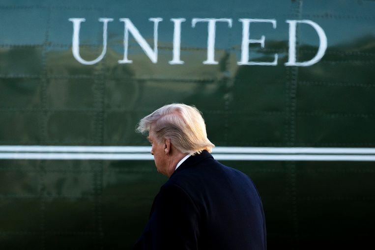 Trump is niet het konijn dat Iran even in hem zag. Uiteindelijk lijkt Amerika weer bovenaan de escalatieladder te staan. Beeld EPA