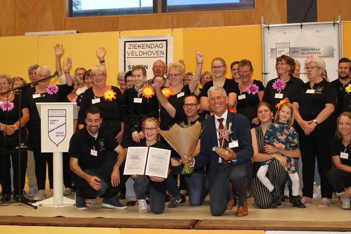 Een aantal vrijwilligers van de Ziekendag Veldhoven.