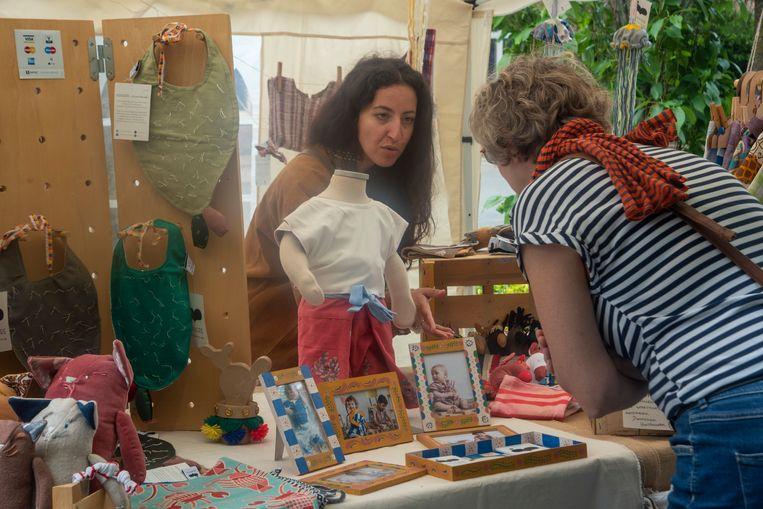 Het MFC Sint Gregorius organiseerde voor het eerste een duurzame markt op haar domein in Gentbrugge.