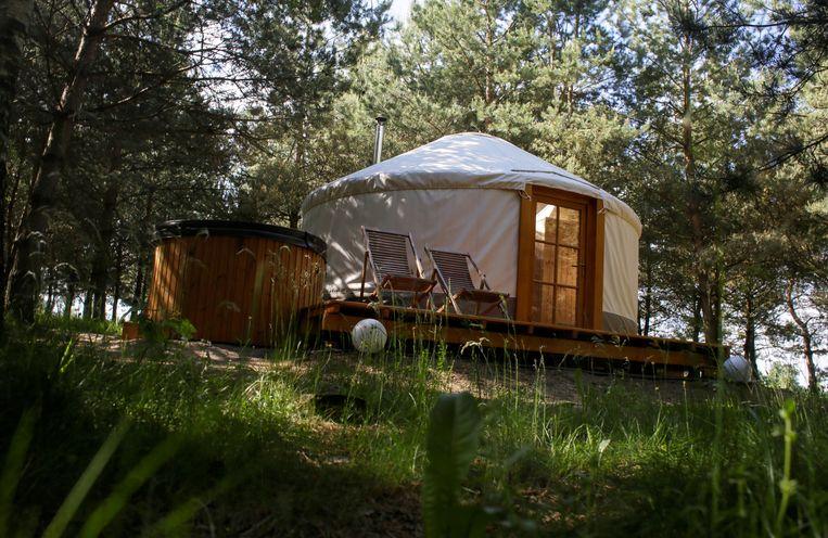 Kamperen in een yurt.  Beeld REUTERS