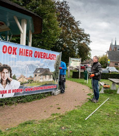 Bergharens protestdoek tegen Beuningse windmolens