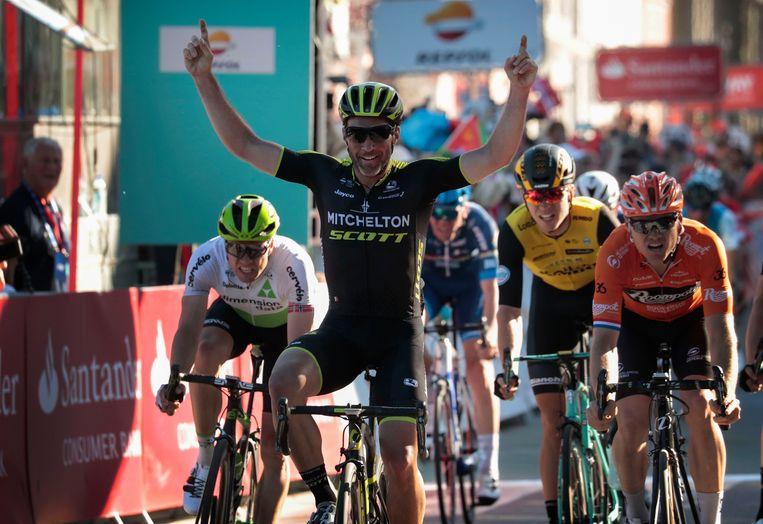 Michael Albasini bij zijn ritzege in de Ronde van de Fjorden in 2018.