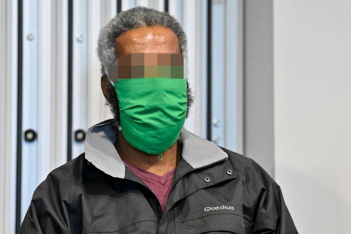 De beschuldigde Yonas Mesfin Tela tijdens een van de zittingen in het Antwerpse hof van assisen. BELGA PHOTO DIRK WAEM