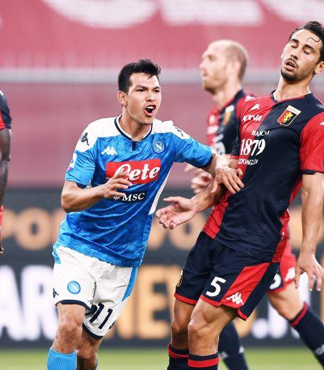 Lozano en Mertens helpen Napoli aan zege op Genoa