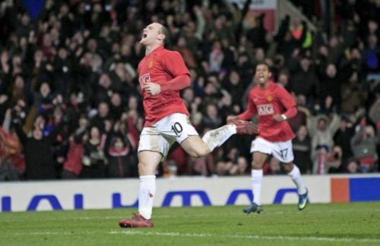 Manchester United heeft een Europees record geëvenaard. Voor de negentiende keer op rij bleven de Engelsen ongeslagen in de Champions League. ANP Photo Beeld
