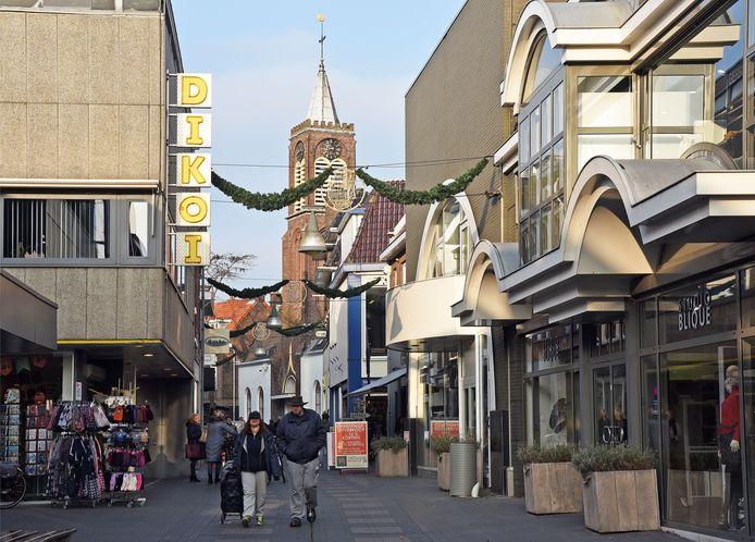 Noordstraat in Terneuzen op archiefbeeld