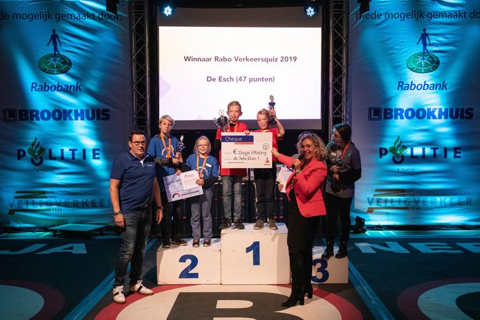De verkeersquiz werd gewonnen door rk De Esch.