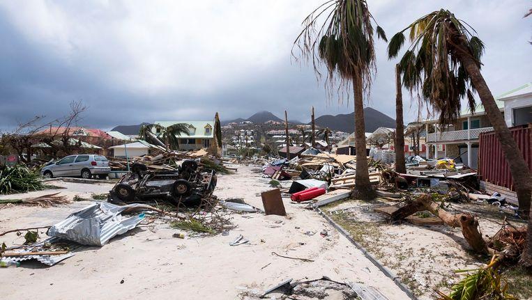 Onder meer het eiland Sint-Maarten is hard getroffen door orkaan Irma