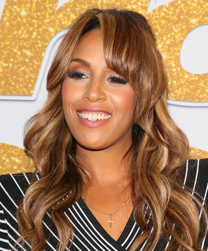 Glennis Grace op de rode loper van America's Got Talent