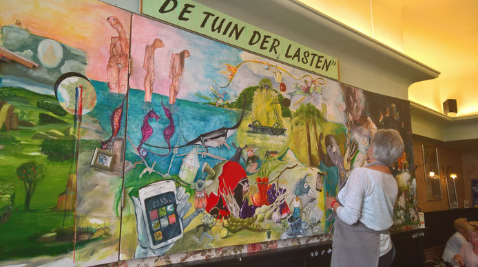 Schilders werken aan de Tuin der Lasten