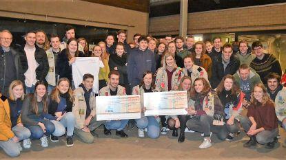 Scouts en gidsen geven 3.800 euro aan  goeie doelen