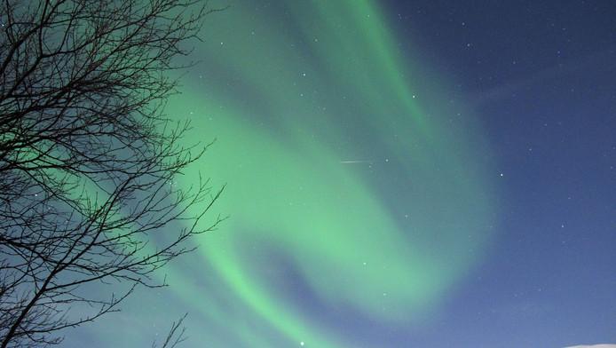 Noorderlicht boven Lapland.