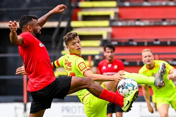 Maxime de Bie speelde op 25 juli nog een oefenwedstrijd met KV Mechelen tegen Seraing.
