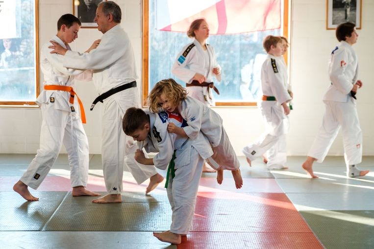 Stan Sleeckx (5) tijdens de judodag.