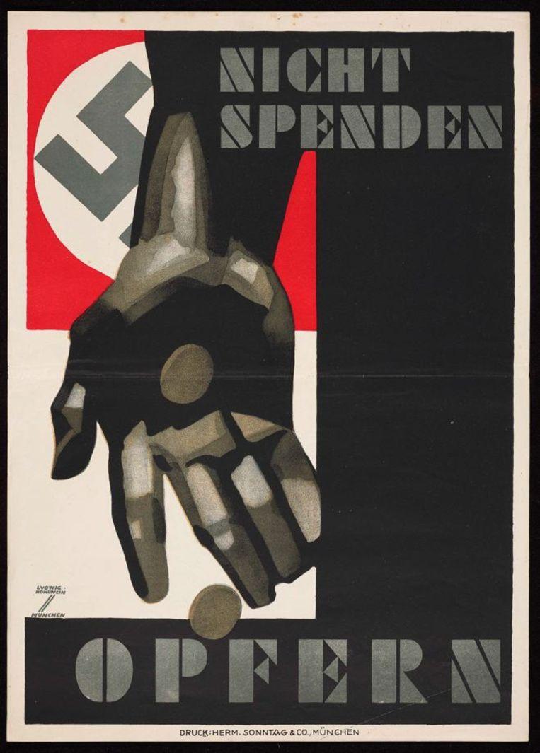 Ludwig Hohlwein, 'Winterhilfswerk', affiche uit 1933 Beeld Münchner Stadtmuseum