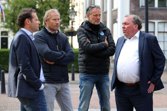Gerald van den Belt, Peter Hofstede, Marc Teloh en Hans Martijn Ostendorp van De Graafschap.