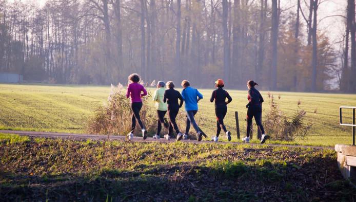 Voorlopig nog in het bos rennen.