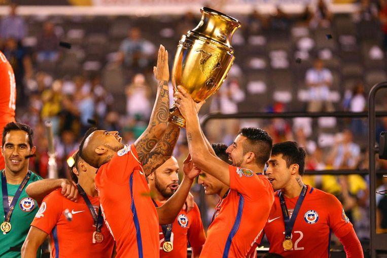 Chili en Arturo Vidal wonnen in 2016 in de States de Copa America Centenario, ter ere van de honderdste verjaardag van de Copa America.