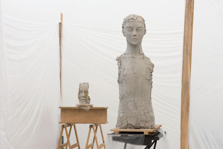 Mark Manders: Room with Unfired Clay Figures Beeld Peter Cox/Courtesy Zeno X Gallery, Antwerp