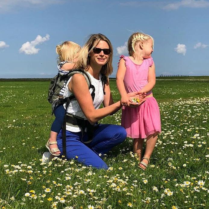 Van der Weijden maakt foto van zijn gezin in Friesland.