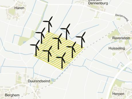 Negen windmolens van 240 meter landen op bord van gemeente Oss: 'Willen we de regie?'