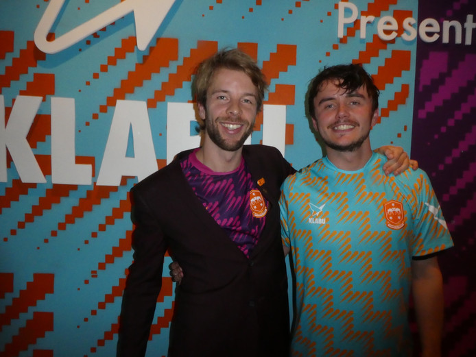 "Klabu-oprichter Jan van Hövell en Joseff Murphy (W+K en Klabu): ""This project is on the border of sports, fashion and changing life."""