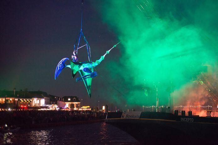 Lichtshow bij de opening  van de Boulevard (foto Bram van de Biezen)