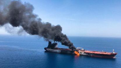 """Twee olietankers """"aangevallen"""" nabij Iran, VS wijzen met beschuldigende vinger naar Iran"""