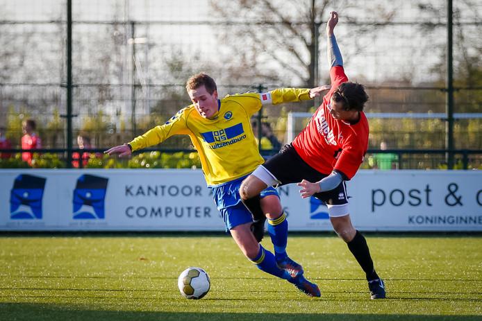Bart Houdijk (l) namens Floreant in actie in 2013. Het jaar waarin een voorsprong van zeven punten werd weggegeven.