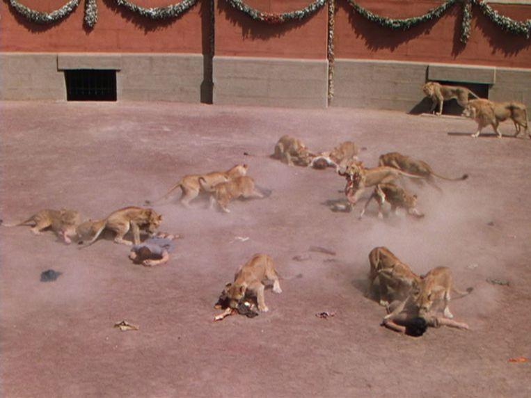 De leeuwenkuil in Quo Vadis (1951) Beeld