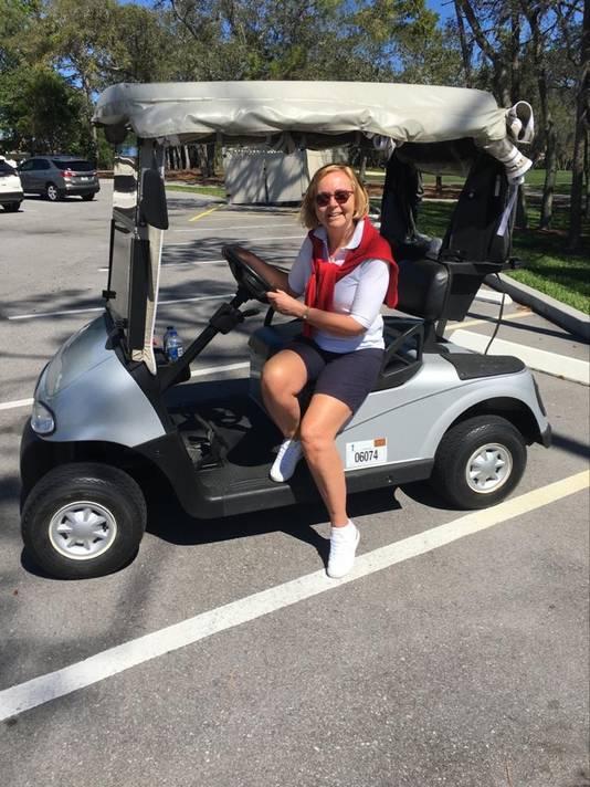 Marijke van Beek tijdens haar vakantie in Florida.