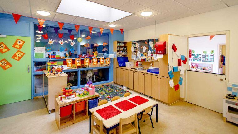 Interieur van een kinderdagverblijf van de failliet verklaarde kinderopvangorganisatie Estro. Beeld null
