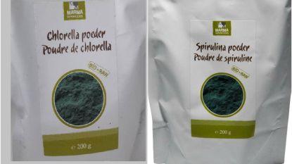 MARMA roept chlorella en spirulina poeder terug